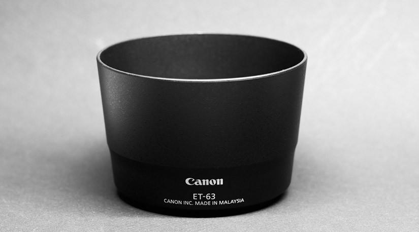 Canon レンズフード ET-63を使ってみた